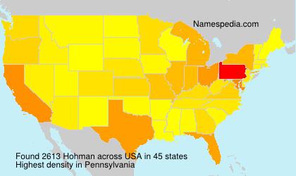 Familiennamen Hohman - USA