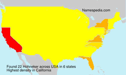 Surname Hohneker in USA