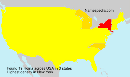 Surname Hoina in USA