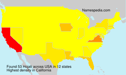 Surname Hojati in USA