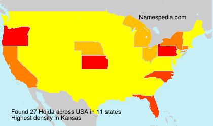 Surname Hojda in USA