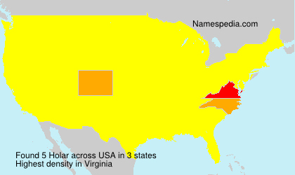 Surname Holar in USA