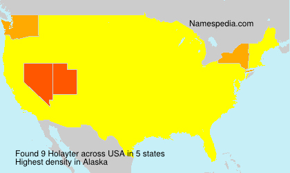 Surname Holayter in USA
