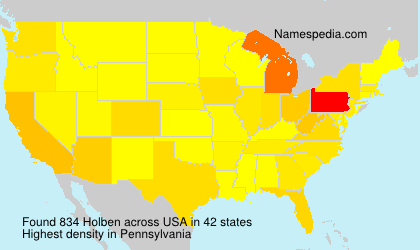 Surname Holben in USA