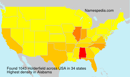 Surname Holderfield in USA