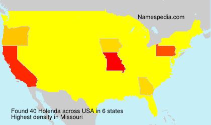 Surname Holenda in USA