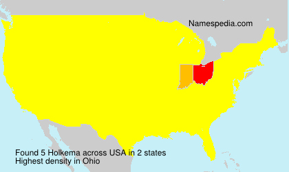 Surname Holkema in USA