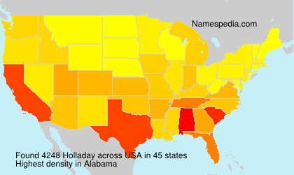 Surname Holladay in USA
