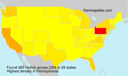 Surname Hollick in USA