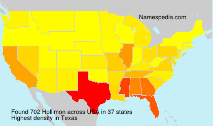 Surname Hollimon in USA