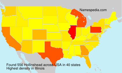 Surname Hollinshead in USA