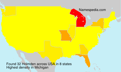 Surname Holmden in USA