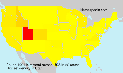 Surname Holmstead in USA