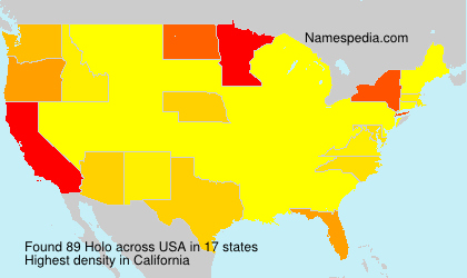 Familiennamen Holo - USA