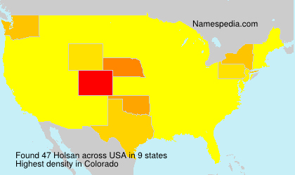 Surname Holsan in USA