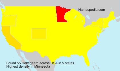 Surname Holtegaard in USA