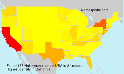 Surname Holtermann in USA