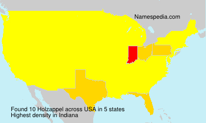 Surname Holzappel in USA