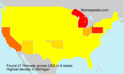 Surname Homady in USA