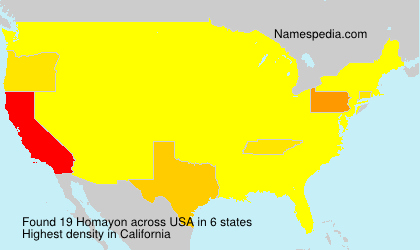 Surname Homayon in USA
