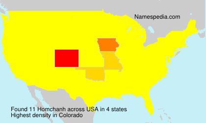 Surname Homchanh in USA