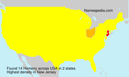 Surname Homeny in USA