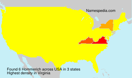 Surname Hommerich in USA
