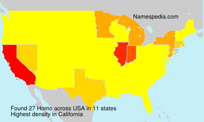 Surname Homo in USA
