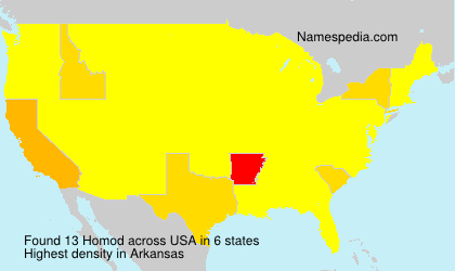 Surname Homod in USA