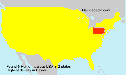 Surname Homont in USA
