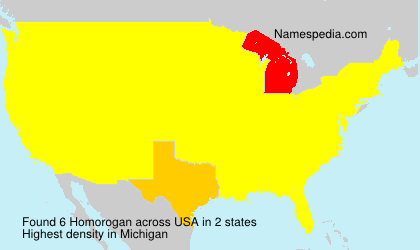 Surname Homorogan in USA