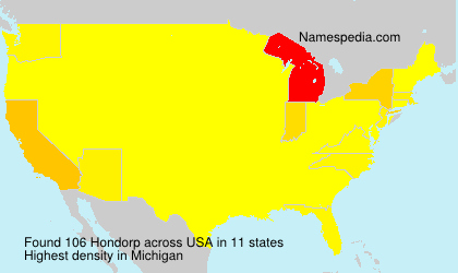 Surname Hondorp in USA