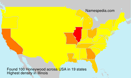 Familiennamen Honeywood - USA