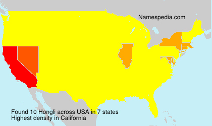 Surname Hongli in USA
