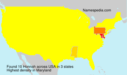 Surname Honnah in USA