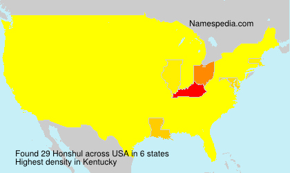 Surname Honshul in USA