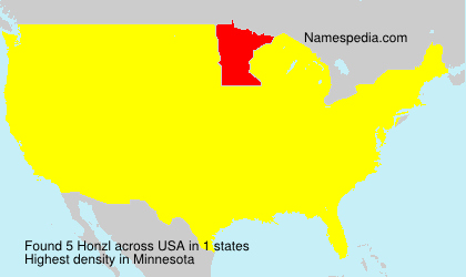 Surname Honzl in USA