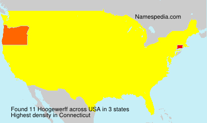 Surname Hoogewerff in USA