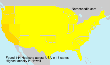 Surname Hookano in USA