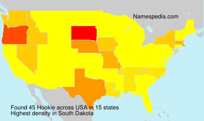 Surname Hookie in USA