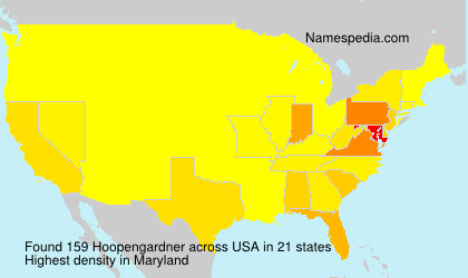 Surname Hoopengardner in USA