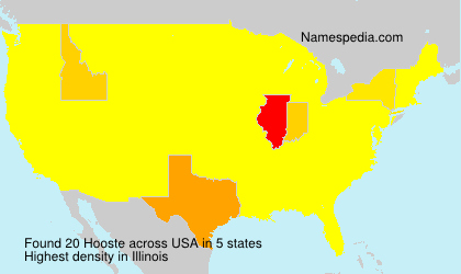 Surname Hooste in USA