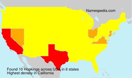 Familiennamen Hopkings - USA