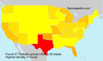 Surname Horbath in USA