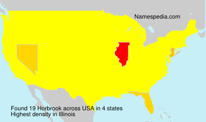 Surname Horbrook in USA