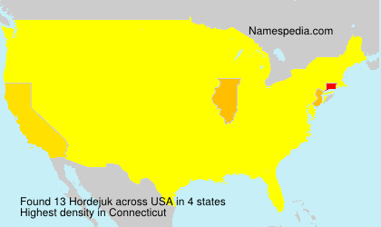 Surname Hordejuk in USA