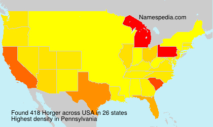 Surname Horger in USA