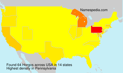 Surname Horgos in USA