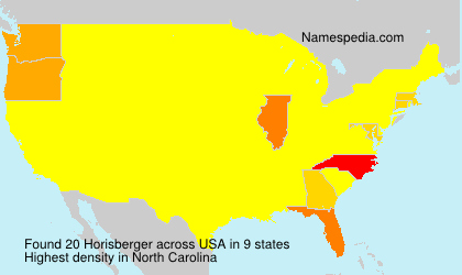 Familiennamen Horisberger - USA