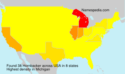 Surname Hornbacker in USA